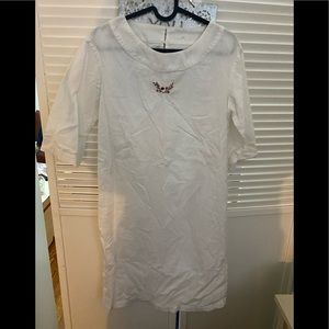 APC 100% cotton dress with embroidery size S